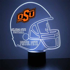 Oklahoma State University Football Helmet LED Light Sports Sign