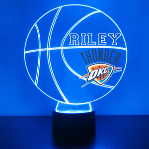 Oklahoma City Thunder Basketball LED Night Light