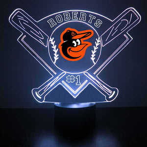 Baltimore Orioles Baseball LED Light Sports Sign