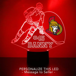 Ottawa Senators Hockey Player LED Night Light