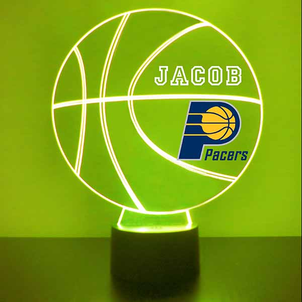Indiana Pacers Basketball LED Light Sports Sign