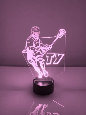 Lacrosse Player LED Night Light