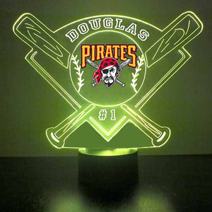 Pittsburgh Pirates Baseball LED Light Sports Sign