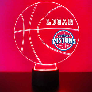 Detroit Pistons Basketball LED Light Sports Sign