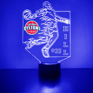 Detroit Pistons Basketball Player LED Light Sports Sign