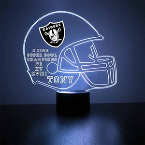 Oakland Raiders Football LED Sports Sign