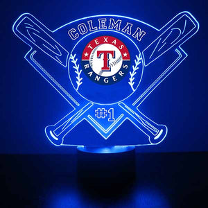 Texas Rangers Baseball LED Light Sports Sign