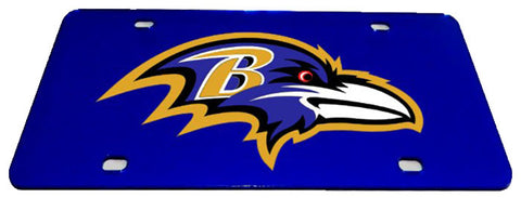 Baltimore Ravens License Plate ---- Mirrored Auto Tags ---- National Football League