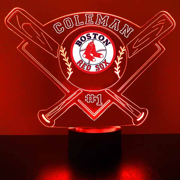 Boston Red Sox Baseball LED Light Sports Sign