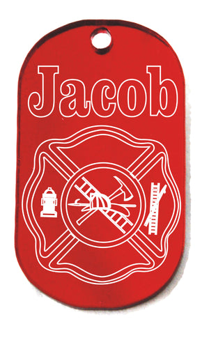Fire Department Theme Dogtag