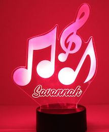 Music Notes LED Night Light