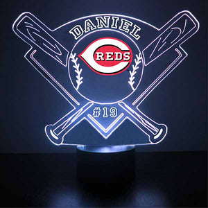 Cincinnati Reds Baseball LED Light Sports Sign