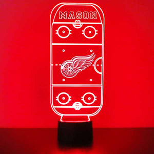 Detroit Redwings Hockey Rink LED Light Up Sports Sign