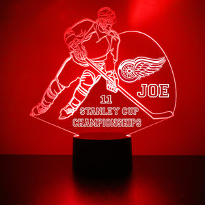 Detroit Red Wings Player LED Night Light
