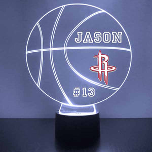 Houston Rockets Basketball LED Light Sports Sign