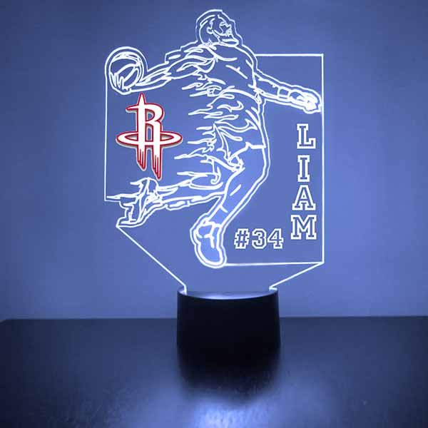Houston Rockets Basketball Player LED Light Sports Sign