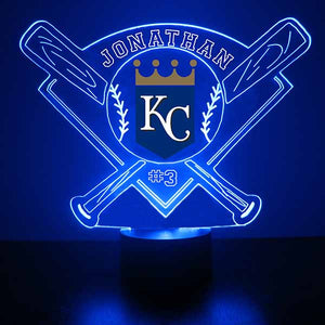 Kansas City Royals Baseball LED Light Sports Sign