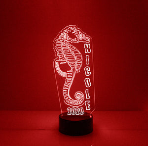 Seahorse LED Night Light