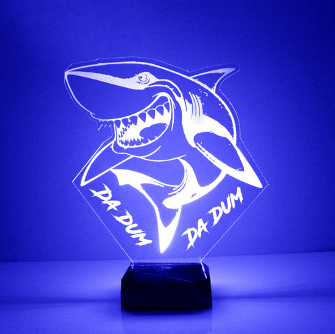 Shark Night Light, Personalized Free, LED Night Lamp, With Remote Control, Engraved Gift, 16 Color Change
