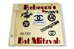 A Unique Sign In Guest Book for Bar/Bat Mitzvah--Sweet Sixteen--Mirrored Guest Book