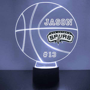 San Antonio Spurs Basketball LED Light Sports Sign