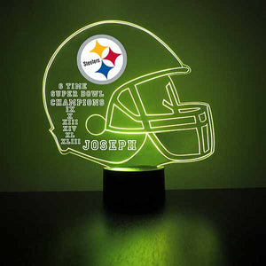 Pittsburgh Steelers Helmet LED Sports Sign