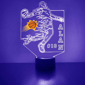 Phoenix Suns Basketball Player LED Light Sports Sign