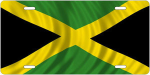 Metal Flags & Nationalities License Plate --- Jamaica --- Custom Auto Tags