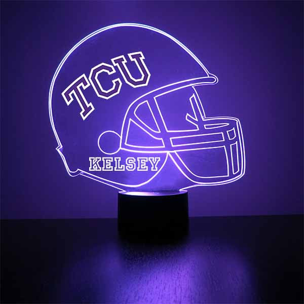 Texas Christian University Football Helmet LED Sports Sign