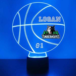 Minnesota Timberwolves Basketball LED Light Sports Sign