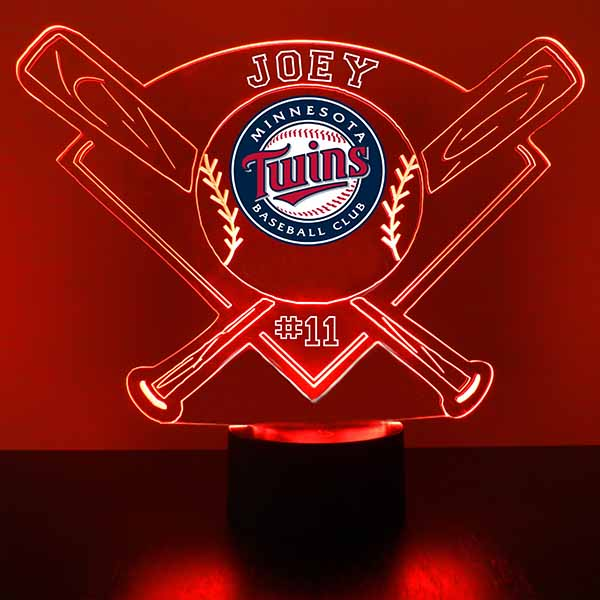 Minnesota Twins Baseball LED Light Sports Sign