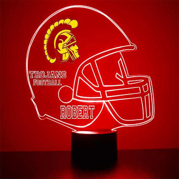 University of Southern California Football Helmet LED Sports Sign