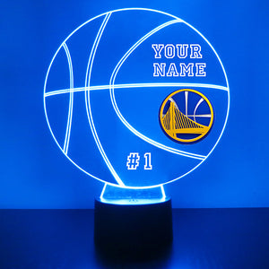 Golden State Warriors Basketball LED Light Sports Sign