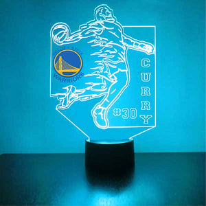 Golden State Warriors Basketball Player LED Night Light