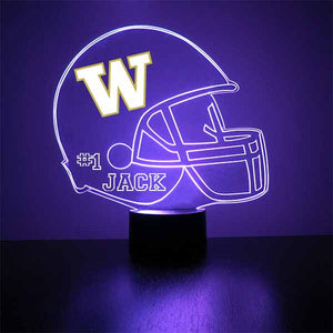 University of Washington Football Helmet LED Sports Sign
