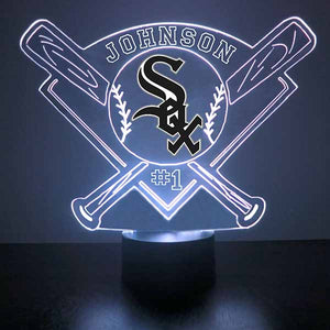 Chicago White Sox Baseball LED Light Sports Sign