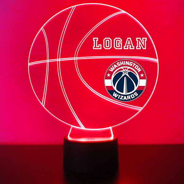 Washington Wizards Basketball LED Light Sports Sign