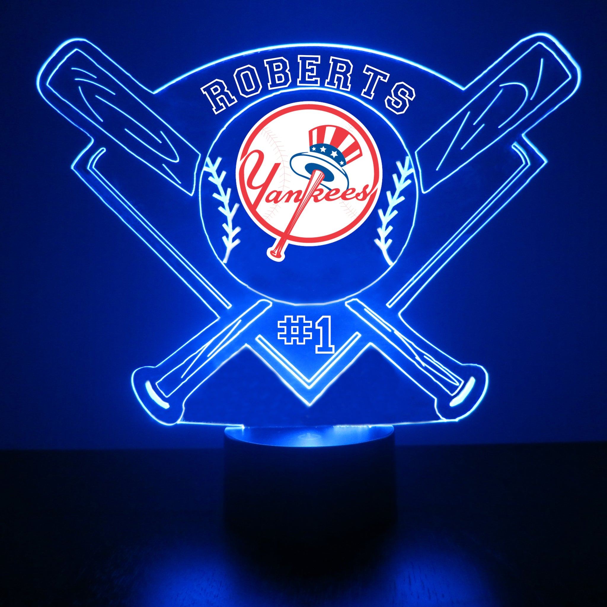 New York Yankees Baseball LED Light Sports Sign