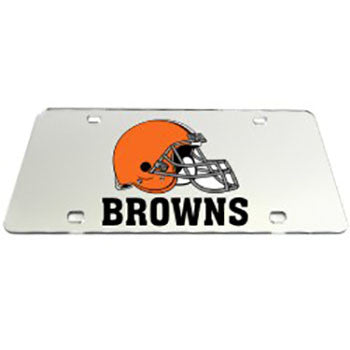 Cleveland Browns License Plate ---- Mirrored Auto Tags ---- National Football League