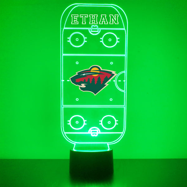 Minnesota Wild Hockey Rink LED Sports Lamp