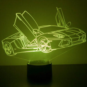 Sports Car LED Night Light