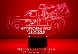 Tow Truck LED Night Light