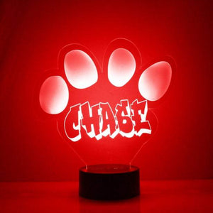 Dog Paw LED Night Light