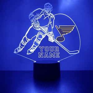 St. Louis Blues Hockey Player LED Sports Sign
