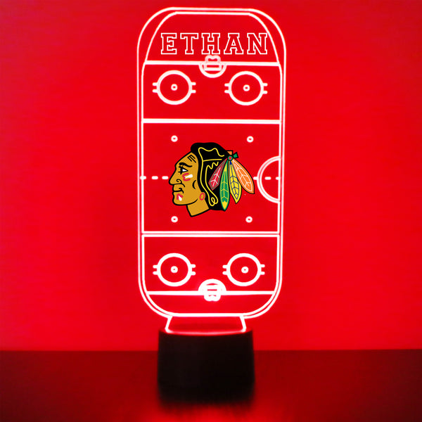 Chicago Blackhawks Hockey Rink LED Sports Sign