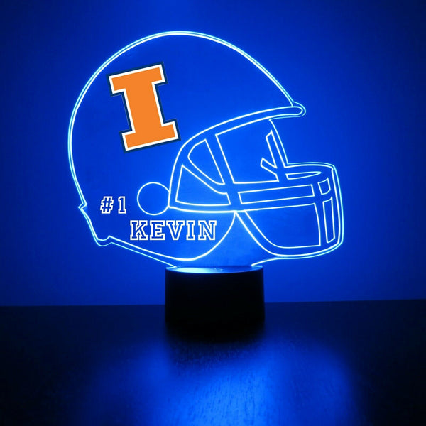 Illinois Fighting Illini Helmet LED Sports Sign