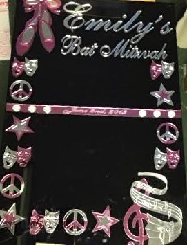 Custom Sign In Board: The Arts Theme Ballet Music Dance Bar Mitzvah Bat Mitzvah