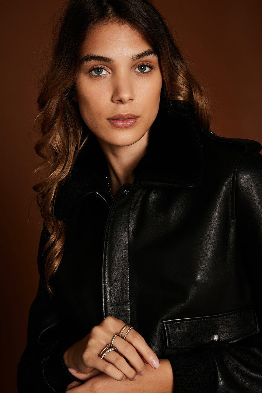 BLOUSON AVIATEUR JOE VESTE STELLA FOREST