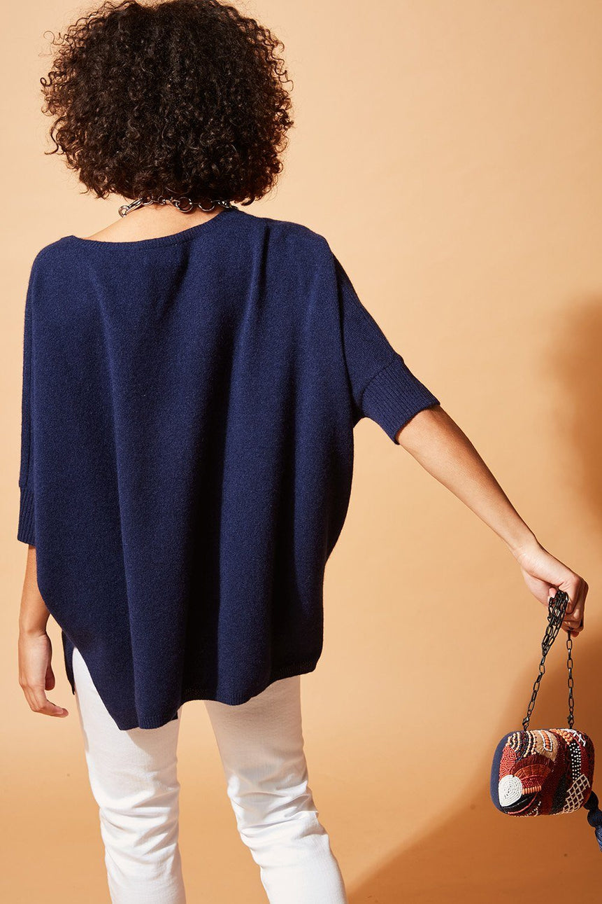 PONCHO CASHMERE PAULINE PULL STELLA FOREST