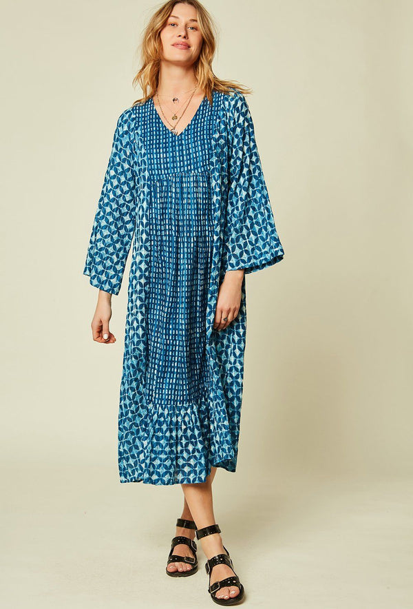 ROBE LONGUE HAWAI ROBE STELLA FOREST INDIGO TU fr